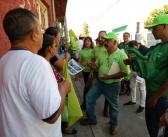 """Sigue con gran éxito el recorrido por las colonias de Uriangato del candidato del Partido Verde """"TANAO"""""""