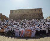 Marcharon mil 500 trabajadores del SNTE