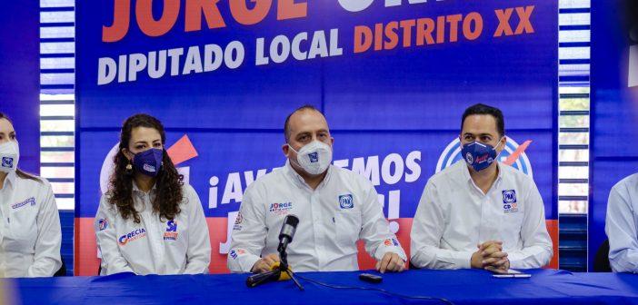 Inicia campaña el Lic. Jorge Ortiz candidato a Diputado Local Distrito xx