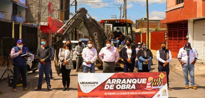 Repavimentación de la calle Juárez de Uriangato