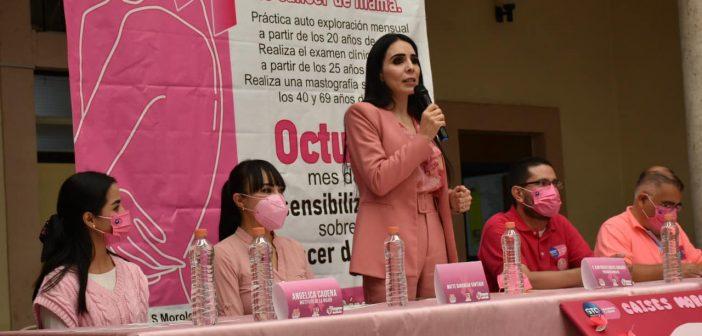 Conmemoran el Día Internacional de la Lucha contra el Cáncer de Mama en Moroleón